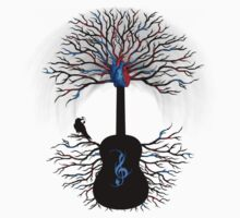 Rhythms of the Heart ~ Surreal Guitar Kids Clothes