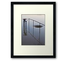 The Water Hole...(or, the hole in the water) Framed Print