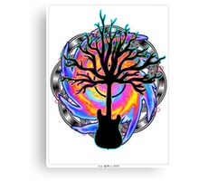 """Psychedelic Sonic Cyclone""   ( surreal guitar tree art) Canvas Print"