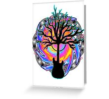 """Psychedelic Sonic Cyclone""   ( surreal guitar tree art) Greeting Card"