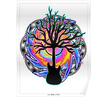 """Psychedelic Sonic Cyclone""   ( surreal guitar tree art) Poster"