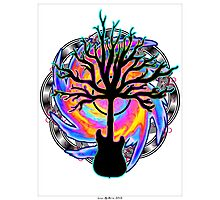 """Psychedelic Sonic Cyclone""   ( surreal guitar tree art) Photographic Print"