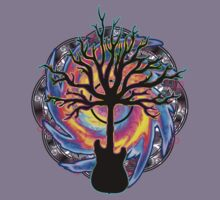 """""""Psychedelic Sonic Cyclone""""   ( surreal guitar tree art) Kids Clothes"""