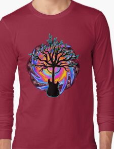 """Psychedelic Sonic Cyclone""   ( surreal guitar tree art) Long Sleeve T-Shirt"
