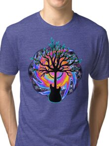 """Psychedelic Sonic Cyclone""   ( surreal guitar tree art) Tri-blend T-Shirt"