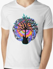 """""""Psychedelic Sonic Cyclone""""   ( surreal guitar tree art) Mens V-Neck T-Shirt"""