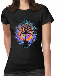 """""""Psychedelic Sonic Cyclone""""   ( surreal guitar tree art) Womens Fitted T-Shirt"""