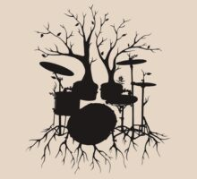 """Live the Beat to the Tempo of Creation"" ~ drum tree art, version2 by Leah McNeir"