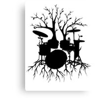 """Live the Beat to the Tempo of Creation"" ~ drum tree art, version2 Canvas Print"