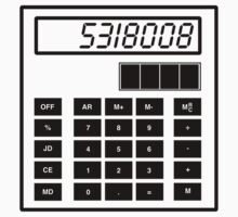 Amazing '5318008' or 'Boobies' spelled backwards on the calculator t-shirt by Albany Retro