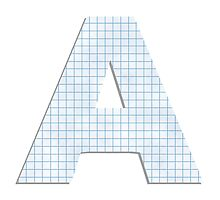 A - 1 Drop Cap by ashraae