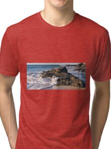 Wategos beach in Byron Bay Tri-blend T-Shirt