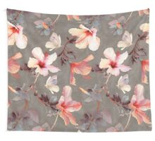 Coral Hibiscus Wall Tapestry