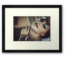 portrait of a happy girl Framed Print
