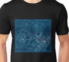 0352 Railroad Maps Map of the Pennsylvania Reading and Lehigh Valley Railroads and their Inverted Unisex T-Shirt