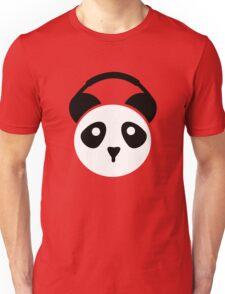 Panda in Headphones Unisex T-Shirt