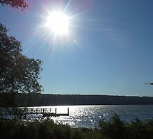 DAYS END ON CAYUGA LAKE by JoAnnHayden