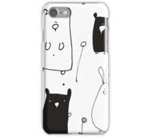 Teddy and Co Monochrome iPhone Case/Skin