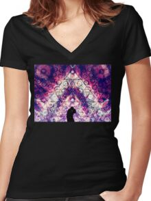 """Young Love"" - visionary art Women's Fitted V-Neck T-Shirt"