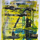 Valley of words, Abstract Original painting ART by Dmitri Matkovsky