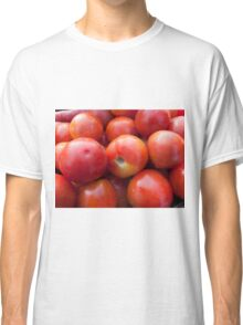 A pile of luscious bright red tomatoes Classic T-Shirt