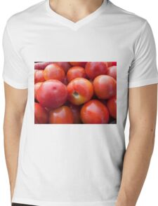 A pile of luscious bright red tomatoes Mens V-Neck T-Shirt