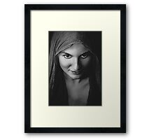horror woman portrait  Framed Print