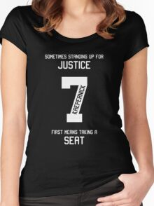 Taking a Seat for Justice Women's Fitted Scoop T-Shirt