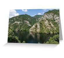 Rough Limestone - a Peaceful Lake in the Mountains Greeting Card