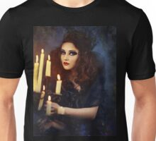 Gothic woman with candles Unisex T-Shirt