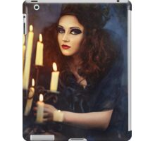 Gothic woman with candles iPad Case/Skin