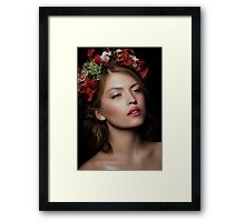Makeup and Curly Hair Framed Print