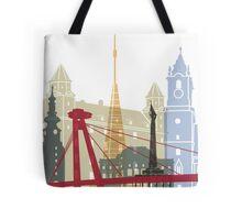 Bratislava skyline poster Tote Bag