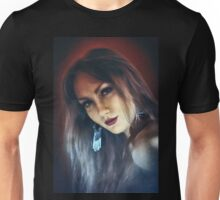 emotion expression dark girl face Unisex T-Shirt