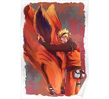 Naruto and Kurama Poster