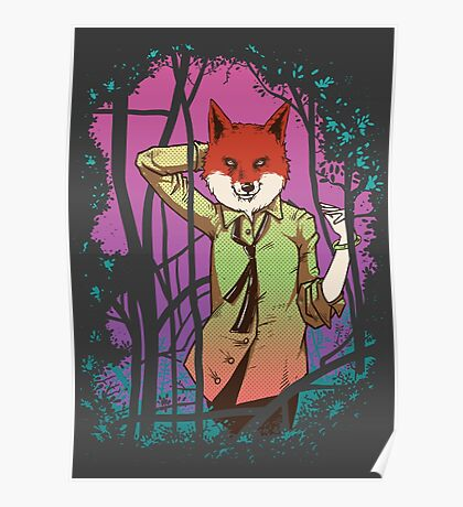 Forest Fox in Tie Poster