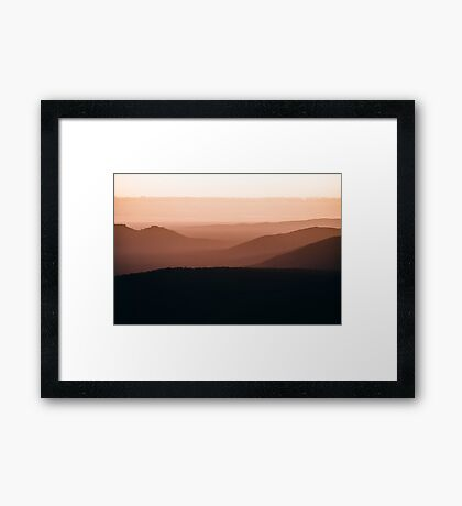 Colours of the Grampians  Framed Print