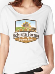 Schrute Farms - Organic Beets - The Office TV Show / Dwight Schrute Inspired Design Women's Relaxed Fit T-Shirt