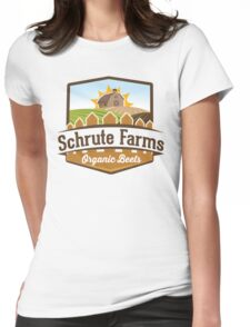 Schrute Farms - Organic Beets - The Office TV Show / Dwight Schrute Inspired Design Womens Fitted T-Shirt
