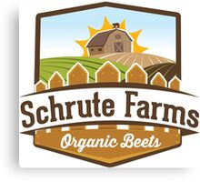 Schrute Farms - Organic Beets - The Office TV Show / Dwight Schrute Inspired Design Canvas Print