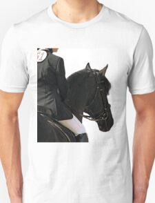Friesian Horse Waiting To Go   Unisex T-Shirt