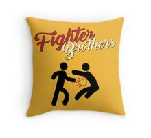Fighter Brothers Throw Pillow