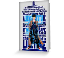 An Angel with all star red converse Shoes typograph Greeting Card