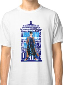 An Angel with all star red converse Shoes typograph Classic T-Shirt