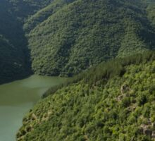 More Than Fifty Shades Of Green - Secluded Lake in the Mountains Sticker