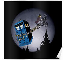 Fourth Doctor Fly With Bicycle Poster