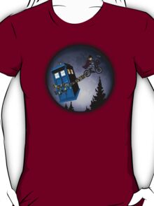 Fourth Doctor Fly With Bicycle T-Shirt