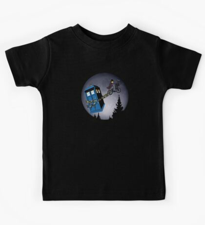 Fourth Doctor Fly With Bicycle Kids Tee