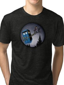 Fourth Doctor Fly With Bicycle Tri-blend T-Shirt