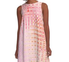 Intergalactic Pink Waves A-Line Dress